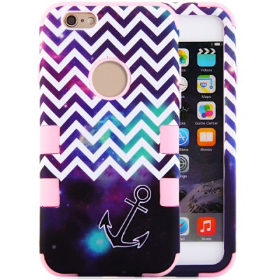 ФОТО Arrow Pattern Silicone and PC Material Back Case Cover for iPhone 6  -  4.7 inches
