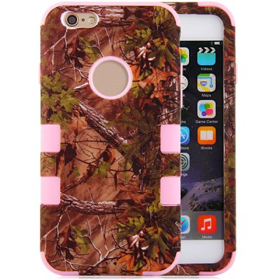 ФОТО Leaf Pattern Silicone and PC Material Back Case Cover for iPhone 6  -  4.7 inches