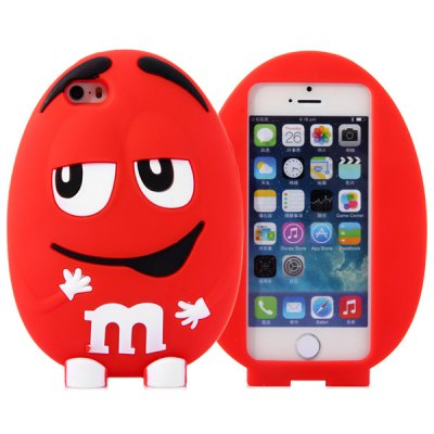 Гаджет   Fashionable m Beans Pattern Silicone Material Back Cover Case for iPhone 5 5S iPhone Cases/Covers