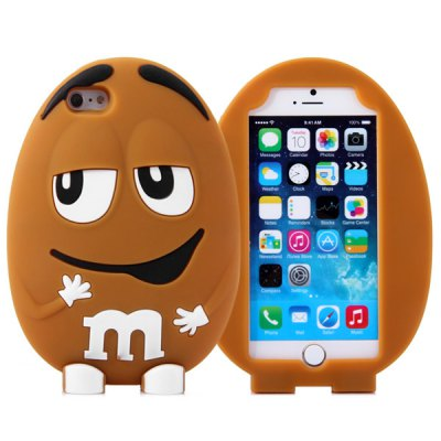 ФОТО Fashionable m Beans Pattern Silicone Material Back Cover Case for iPhone 6  -  4.7 inches