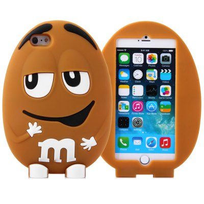 ФОТО Fashionable m Beans Pattern Silicone Material Back Cover Case for iPhone 6 Plus  -  5.5 inches