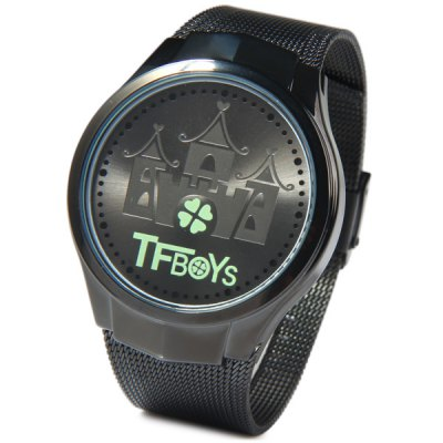 Гаджет   Touch Screen Watch Flash LED Watches with Steel Net Band Sports Watches