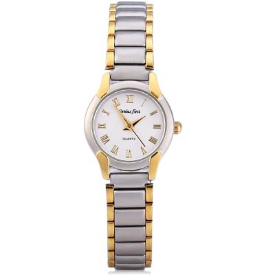 ФОТО Genius Frist Quartz Watch Round Dial Stainless Steel Band for Lady