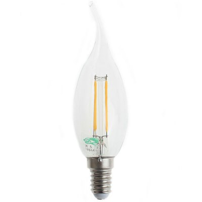 Zweihnder 380Lm E14 4W 3000  -  3500K Sapphire Filament LED Candle Light with Flame Tip