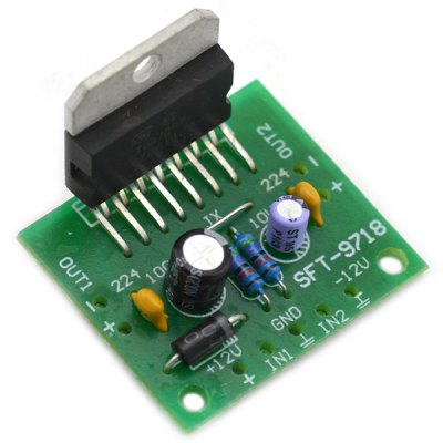 Multifunctional DIY DC 12V 2.0 Dual Stereo Channel 15W x 2 Finished Power Amp Board