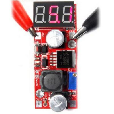 High Performance DIY DC 4.5  -  28V to 1.3  -  25V LM2596 Step Down Buck Converter Module with Red LED