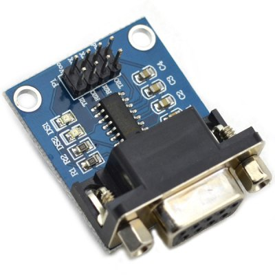 RS232 Serial Port To TTL Converter Module with Transmitting / Receiving Indicator Light for Learners to DIY