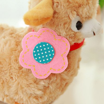 Гаджет   25CM Cuddly Sheep Arpakasso with Flower Soft Toy Plush Doll Dolls & Action Figures