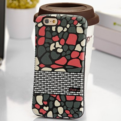 Гаджет   iFace mall Dots Pattern PC and TPU Material Frosted Back Case for iPhone 6  -  4.7 inches