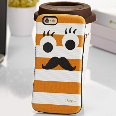 Гаджет   iFace mall Beard Pattern PC and TPU Material Back Case for iPhone 6 Plus  -  5.5 inches iPhone Cases/Covers