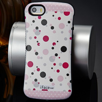 Гаджет   iFace mall Dots Pattern PC and TPU Material Back Case for iPhone 5 5S iPhone Cases/Covers