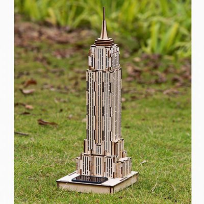Гаджет   DIY Colored Drawing Assembly The Empire State Building with Solar Sensation LED Light
