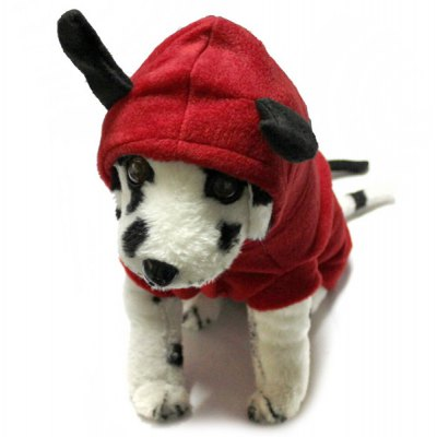 Demon Pattern Pet Clothes Outwear with Cap for Doggy