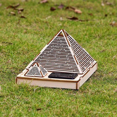 DIY Colored Drawing Assembly Cheops Pyramid with Solar Sensation LED Light