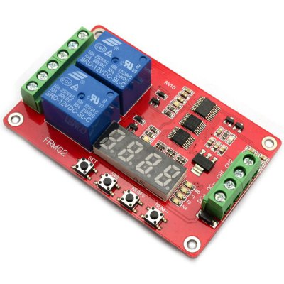 DC 12V 2 Channel Timing Relay Module