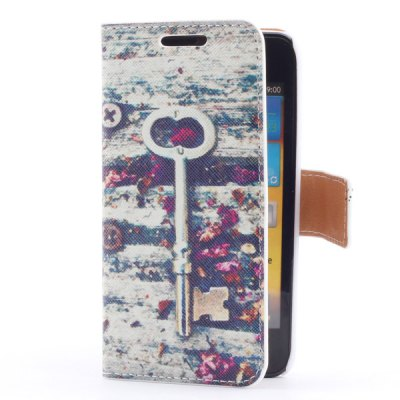 ФОТО Smart Phone Cover Case with Key + Flowers Pattern Stand Function + Card Slots for Samsung i9070 S Advance