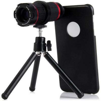 Practical 4  -  12x Optical Telescope Mobile Telephoto Lens with Tripod and Back Case for iPhone 6 Plus  -  5.5 inchesiPhone Lenses<br>Practical 4  -  12x Optical Telescope Mobile Telephoto Lens with Tripod and Back Case for iPhone 6 Plus  -  5.5 inches<br><br>Magnification: 4 - 12x<br>Angle of view: 13 - 6.5 Deg<br>Product weight : 0.151 kg<br>Package weight : 0.435 kg<br>Product size (L x W x H) : 10.5 x 3.8 x 3.8 cm / 4.1 x 1.5 x 1.5 inches<br>Package size (L x W x H) : 17 x 9.5 x 8 cm<br>Package Contents: 1 x Telephoto Lens, 1 x Tripod, 1 x Holder Ring, 1 x Cleaning Cloth, 1 x Case, 1 x Pouch, 1 x English User Manual
