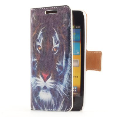 Гаджет   Smart Phone Cover Case with Tiger Head Pattern Stand Function + Card Slots for Samsung i9070 Galaxy S Advance Samsung Cases/Covers