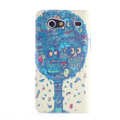 Гаджет   Smart Phone Cover Case with Blue Tree Pattern Stand Function + Card Slots for Samsung i9070 Galaxy S Advance Samsung Cases/Covers