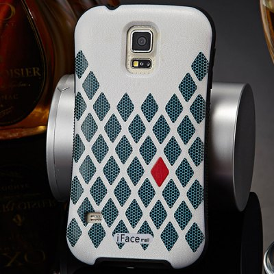 Гаджет   iFace mall Rhombic Grid Pattern PC and TPU Material Back Case for Samsung Galaxy S5 i9600 SM - G900 Samsung Cases/Covers