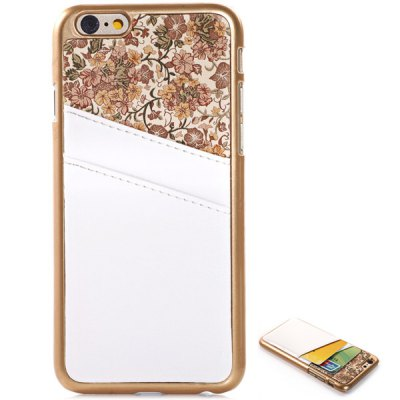 ФОТО Flower Pattern PU Leather and PC Material Back Cover Case for iPhone 6 Plus  -  5.5 inches