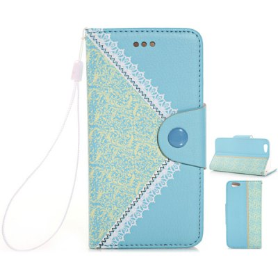 ФОТО Flower Texture Pattern PU Leather and TPU Material Cover Case for iPhone 6 Plus  -  5.5 inches