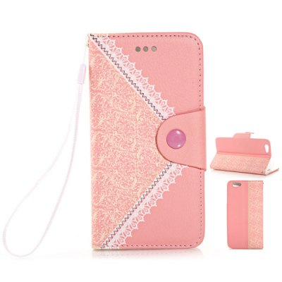 ФОТО Flower Texture Pattern PU Leather and TPU Material Cover Case for iPhone 6  -  4.7 inches
