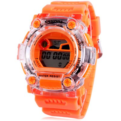 Shhors 750 LED Sports Military Watch Multifunction with Day Date Alarm Stopwatch Water Resistant