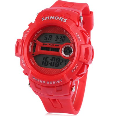 Гаджет   Shhors 733 LED Sports Military Watch Multifunction with Day Date Alarm Stopwatch Water Resistant Sports Watches