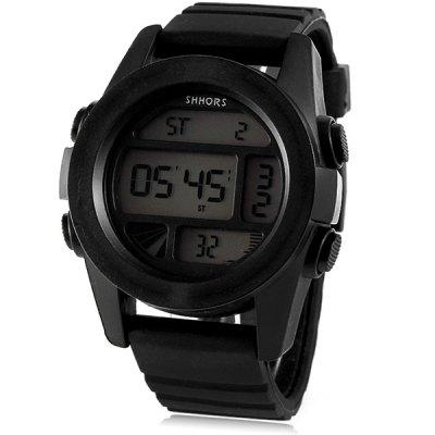 Shhors 728 LED Sports Military Watch Multifunction with Day Date Alarm Stopwatch