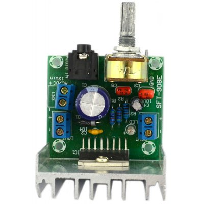 Multifunctional TDA7297 AC / DC 12V Class B Dual Channel Noiseless Amplifier Board for DIY Project
