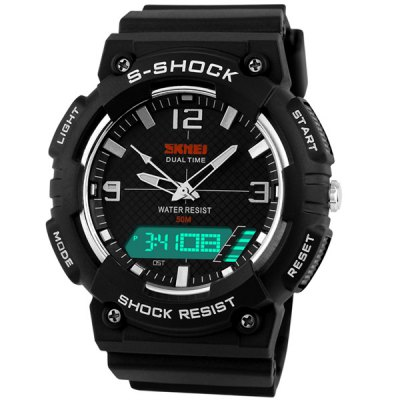 Гаджет   Skmei 1057 LED Military Watch Double Display Alarm 5ATM Water Resistant Sports Watches