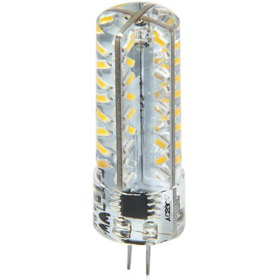 G4 3.3W 72 SMD 3014 270Lm 3000K Dimmable Silicone LED Corn Bulb