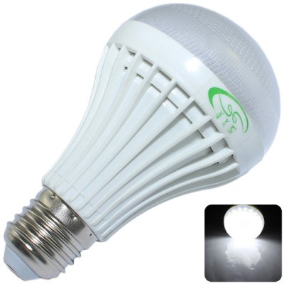 XinYiTong 7W E27 27 x SMD 2835 650Lm 5500  -  6000K LED Ball Bulb with Frosted Shade