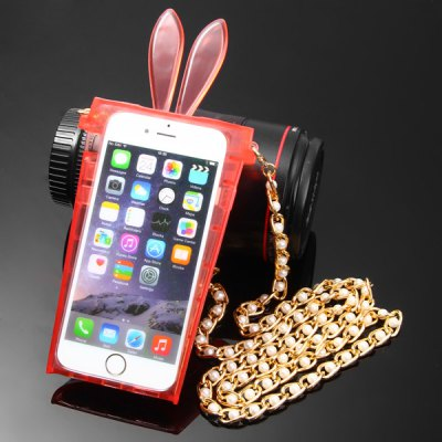 Rabbit Ear Cup Style Transparent Hang Rope TPU Back Cover Case for iPhone 6  -  4.7 inchesiPhone Cases/Covers<br>Rabbit Ear Cup Style Transparent Hang Rope TPU Back Cover Case for iPhone 6  -  4.7 inches<br><br>Compatible for Apple: iPhone 6<br>Features: Back Cover, With Lanyard<br>Material: TPU<br>Style: Special Design, Transparent<br>Color: Blue, Purple, Transparent, Black, Pink, Red<br>Product weight : 0.069 kg<br>Package weight : 0.185 kg<br>Product size (L x W x H): 20 x 9.5 x 2.3 cm / 7.9 x 3.7 x 0.9 inches<br>Package size (L x W x H) : 28 x 14 x 3 cm<br>Package contents: 1 x Case, 1 x Lanyard