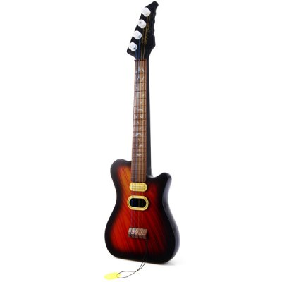 ФОТО Fashionable Electric Guitar Pattern Guitar Toy with Plastic Material for Kids