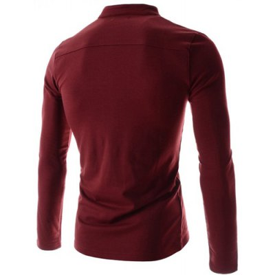 Stylish Stand Collar Slimming Pocket and Button Design Long Sleeve Polyester Polo Shirt For MenMens Long Sleeves Tees<br>Stylish Stand Collar Slimming Pocket and Button Design Long Sleeve Polyester Polo Shirt For Men<br><br>Material: Polyester<br>Sleeve Length: Full<br>Collar: Mandarin Collar<br>Style: Fashion<br>Weight: 0.350KG<br>Package Contents: 1 x Polo Shirt<br>Embellishment: Pockets<br>Pattern Type: Solid