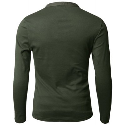 Stylish V-Neck Slimming Button Design Fabric Splicing Long Sleeve Polyester Polo Shirt For MenMens Long Sleeves Tees<br>Stylish V-Neck Slimming Button Design Fabric Splicing Long Sleeve Polyester Polo Shirt For Men<br><br>Material: Polyester<br>Sleeve Length: Full<br>Collar: V-Neck<br>Style: Fashion<br>Weight: 0.320KG<br>Package Contents: 1 x Polo Shirt<br>Embellishment: Button<br>Pattern Type: Patchwork
