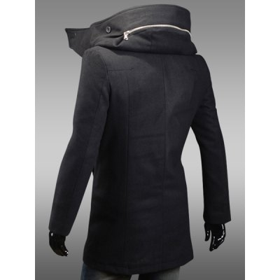 Fashion Zipper Design Hooded Inclined Button Fly Slimming Long Sleeves Mens Woolen CoatMens Jakets &amp; Coats<br>Fashion Zipper Design Hooded Inclined Button Fly Slimming Long Sleeves Mens Woolen Coat<br><br>Clothes Type: Wool &amp; Blends<br>Material: Polyester, Wool<br>Collar: Hooded<br>Clothing Length: Long<br>Style: Fashion<br>Weight: 1.020KG<br>Sleeve Length: Long Sleeves<br>Season: Winter<br>Package Contents: 1 x Coat