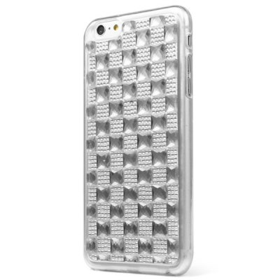 Гаджет   TPU Material Big Grid Diamante Back Cover Case for iPhone 6 Plus  -  5.5 inches iPhone Cases/Covers