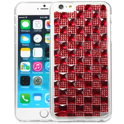 TPU Material Big Grid Diamante Back Cover Case for iPhone 6 Plus  -  5.5 inches