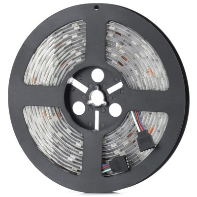 HML 72W 5M 300 x SMD 5050 DC 12V Water - resistant Flexible RGB LED Strip Light + RGB ControllerLED Strips<br>HML 72W 5M 300 x SMD 5050 DC 12V Water - resistant Flexible RGB LED Strip Light + RGB Controller<br><br>Features: IP-65<br>Length: 5 m<br>Number of LEDs: 300 SMD-5050 LEDs<br>Optional Light Color: Red,Blue,Green,Warm White,Cold White,RGB<br>Input Voltage: DC12<br>Material: FPC<br>Product weight: 0.182 kg<br>Package weight: 0.256 kg<br>Product size (L x W x H): 15.00 x 15.00 x 1.20 cm / 5.91 x 5.91 x 0.47 inches<br>Package size (L x W x H): 16.00 x 16.00 x 2.00 cm / 6.3 x 6.3 x 0.79 inches<br>Package Contents: 1 x HML 5M 72W SMD 5050 300 LEDs Strip Lamp, 1 x Controller