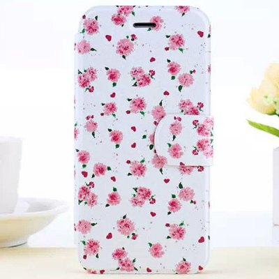 Гаджет   Flower Pattern PC and PU Material Cover Case for iPhone 6  -  4.7 inches iPhone Cases/Covers