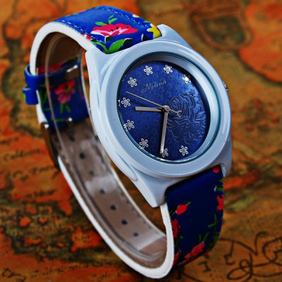 Mitina M - 241 Quartz Watch Japan Movt Flower Leather Wristband for WomenWomens Watches<br>Mitina M - 241 Quartz Watch Japan Movt Flower Leather Wristband for Women<br><br>Watches categories: Female table<br>Available color: Pink, Blue, Green, Khaki, Black<br>Style : Fashion&amp;Casual<br>Movement type: Quartz watch<br>Shape of the dial: Round<br>Display type: Analog<br>Case material: Stainless steel<br>Band material: Leather<br>Clasp type: Pin buckle<br>The dial thickness: 0.8 cm / 0.31 inches<br>The dial diameter: 4.0 cm / 1.57 inches<br>The band width: 1.8 cm / 0.71 inches<br>Product weight: 0.039 kg<br>Package weight: 0.089 kg<br>Product size (L x W x H) : 24.3 x 4 x 0.8 cm / 9.55 x 1.57 x 0.31 inches<br>Package size (L x W x H): 25.3 x 5 x 1.8 cm / 9.94 x 1.97 x 0.71 inches<br>Package contents: 1 x Watch