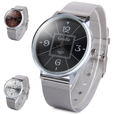 ФОТО Kaladia 8923 Unisex Quartz Watch Steel Net Band Round Dial with Water Resistant Function