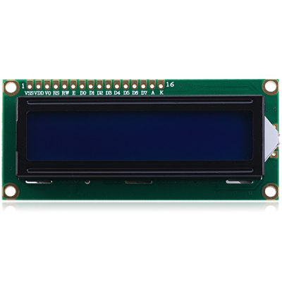 Гаджет   Full Function 16 Characters x 2 Lines LCD Display Module with Blue Backlight for DIY LCD,LED Display Module