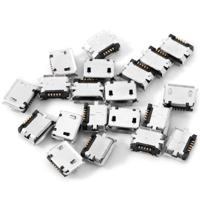 Practical DIY 5Pin Micro USB Female SMT Socket Connector  -  20PCS