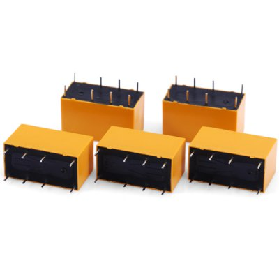 HK19F  -  DC24V  -  SHG 5Pcs High Performance 8Pin DIP Power Relay for DIY Project  -  ( 1A AC 125V / 2A DC 30V )