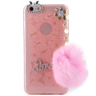ФОТО Pompon Pendant Design Transparent TPU Material Back Case for iPhone 6 Plus  -  5.5 inches