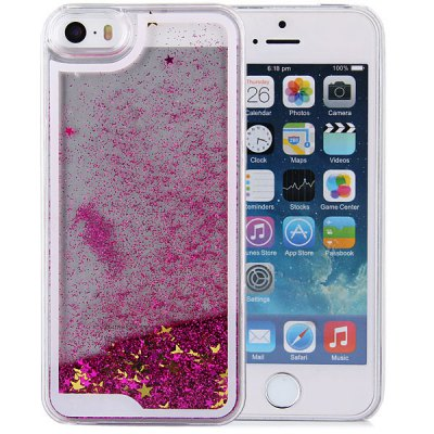 ФОТО Hourglass Design Transparent PC Material Back Case for iPhone 5 5S